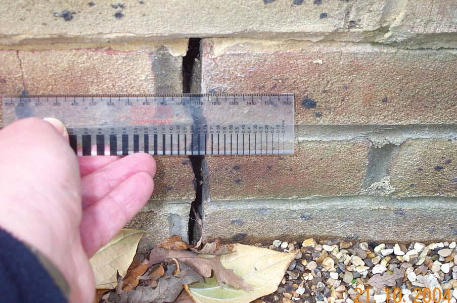 Subsidence caused by movements as small as 0.1mm can be detected using our surveying equipment. Call us today if you have any concerns about subsidence.
